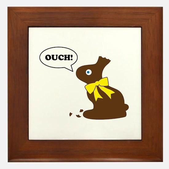 Bunny Ouch Framed Tile