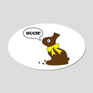 Bunny Ouch 20x12 Oval Wall Decal