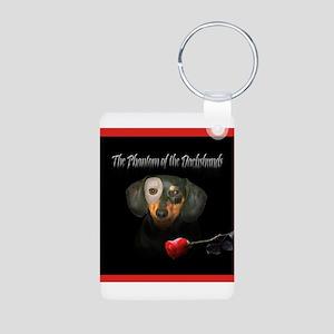 Phantom Doxie Aluminum Photo Keychain