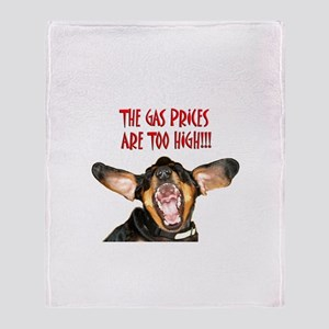 Gas Too High Throw Blanket