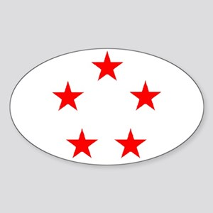 FIVE STAR GENERAL II Sticker (Oval)