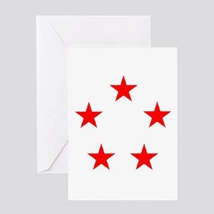 FIVE STAR GENERAL II Greeting Card
