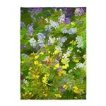 Maine Impasto WIldflowers 5'x7'Area Rug