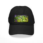 Maine Impasto WIldflowers Black Cap with Patch