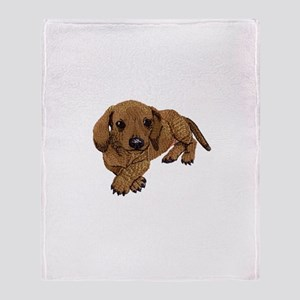 Embroidered Look Throw Blanket
