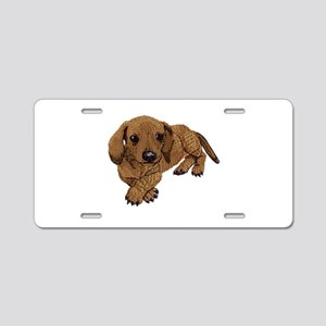 Embroidered Look Aluminum License Plate