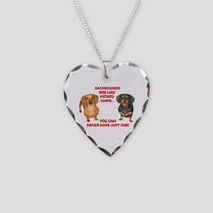 Potato Chips Necklace Heart Charm