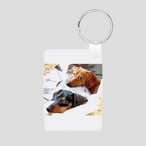 Naptime Aluminum Photo Keychain