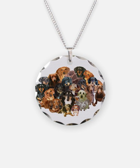 A World of Dachshunds Necklace