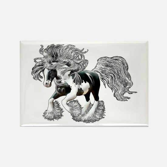 Gypsy Vanner Rectangle Magnet