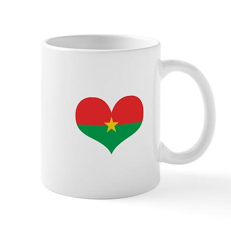 Burkina Faso Heart Mug