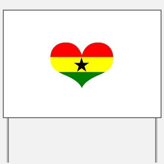 Ghana Heart Yard Sign