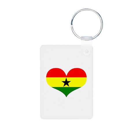 Ghana Heart Aluminum Photo Keychain