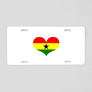 Ghana Heart Aluminum License Plate