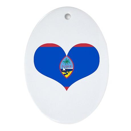 Guam Heart Ornament (Oval)