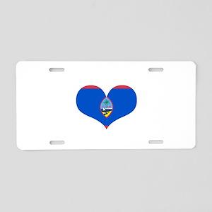 Guam Heart Aluminum License Plate