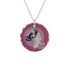 A lovely Harlequin Great Dane Necklace