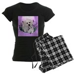 Great Pyranees Pup Women's Dark Pajamas