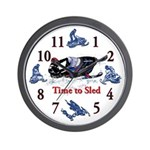 Its Time To Sled - Snowmobile Wall Clock