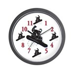 Its Time To Snow Board Wall Clock
