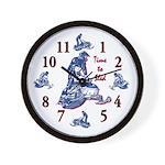 Blue-Camo-Clock Wall Clock