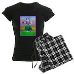 Hula Bulldog Women's Dark Pajamas