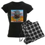 Sherriff bulldog Women's Dark Pajamas