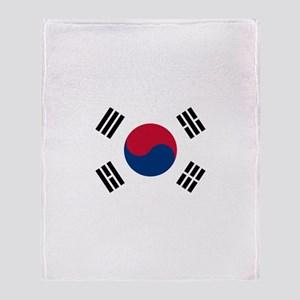 Korean Flag Throw Blanket