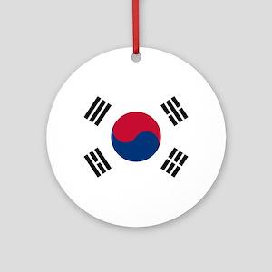Korean Flag Ornament (Round)