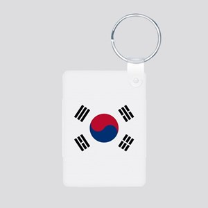 Korean Flag Aluminum Photo Keychain