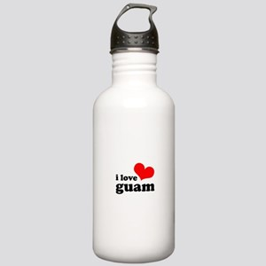 I Love Guam Stainless Water Bottle 1.0L