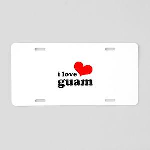 I Love Guam Aluminum License Plate