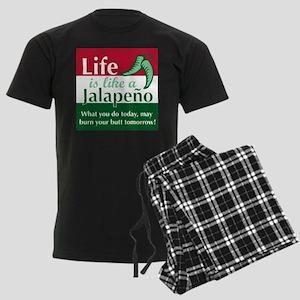 Life is Like A Jalapeno... Men's Dark Pajamas