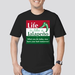 Life is Like A Jalapeno... Men's Fitted T-Shirt (d