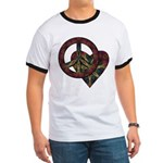 Tie Dye Peace and Love Ringer T