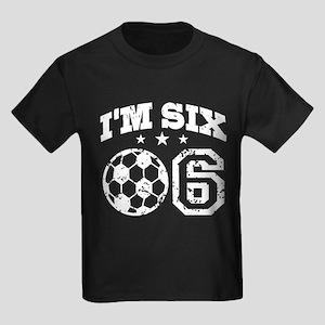 Six Year Old Soccer Kids Dark T-Shirt