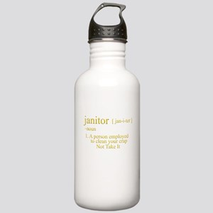 funny janitor Stainless Water Bottle 1.0L