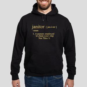 funny janitor Hoodie (dark)
