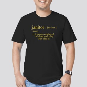 funny janitor Men's Fitted T-Shirt (dark)