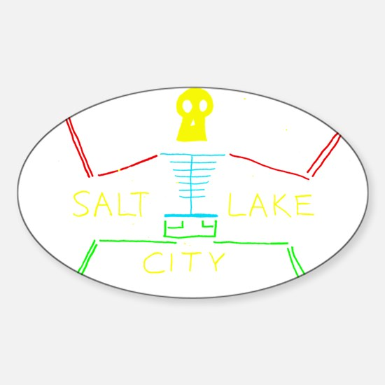 SALT LAKE CITY Sticker (Oval)