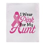 Pink For Aunt Throw Blanket