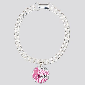 Pink For Mom Charm Bracelet, One Charm