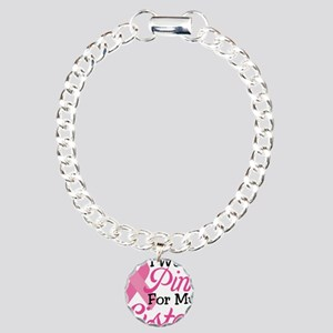 Pink For Sister Charm Bracelet, One Charm