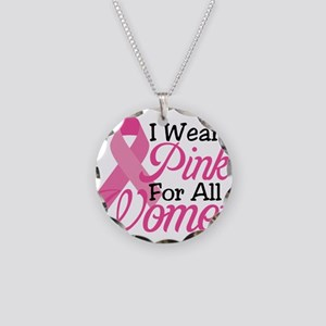 Pink For Women Necklace Circle Charm