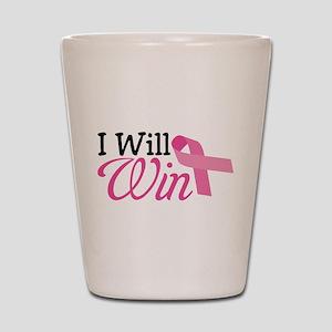 I Will Win Shot Glass