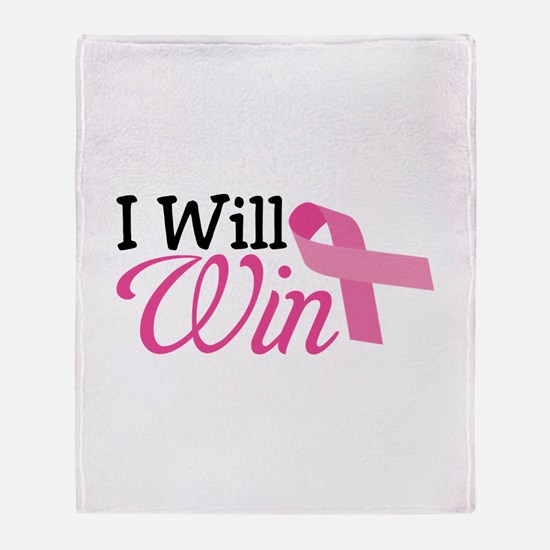 I Will Win Throw Blanket
