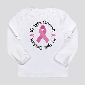10 Year Survivor Long Sleeve Infant T-Shirt