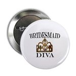 "Bridesmaid DIVA 2.25"" Button (100 pack)"