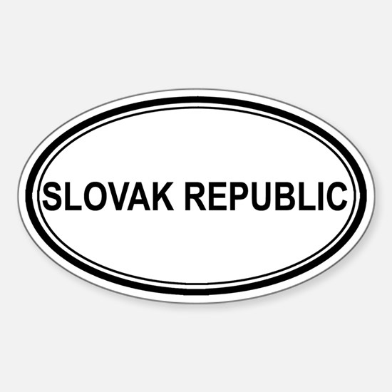 Slovak Republic Euro Oval Decal