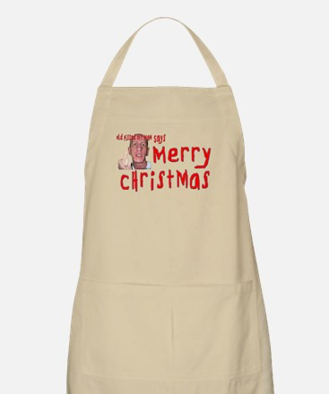 Old Pissed Off Man Christmas Apron